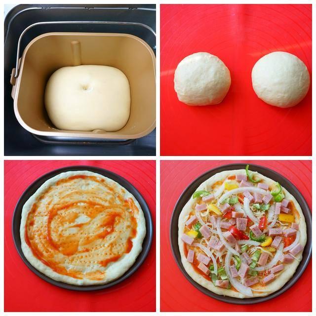 自己在家做披萨,饼皮酥脆嚓嚓响,揉面和铺料是好吃的关键!