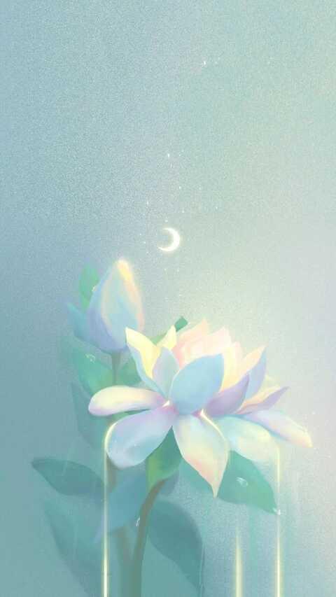 蓝色韩系少女心壁纸,超好看的手机壁纸