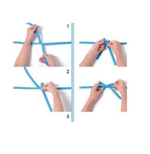 蝴蝶结的打法图解,教你风衣蝴蝶结怎么打