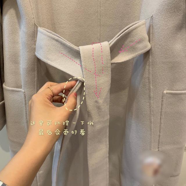 图解教你最好看最简单的大衣蝴蝶结打结方式!